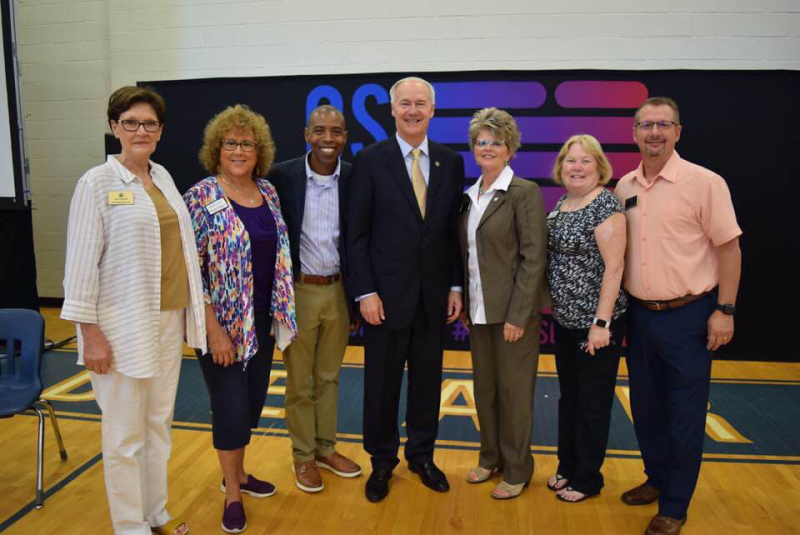 Rotarians with Governor Asa Hutchinson